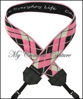 Pink and Black Argyle with Black Lining