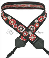 Reversible Red/White Flowers to Red/White Dotted Line