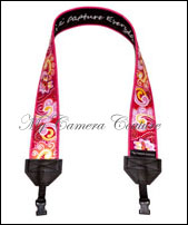 Pink Tropical Punch-SLR camera, DSLR camera, camera accessory, camera strap, camcorder strap, fashion camera strap, funky camera strap, classic camera strap, colourful camera strap, colorful camera strap