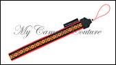 Black and Red Diamonds on Gold with Black and Red Trim
