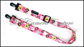 Pink Flowers Small Bag Strap