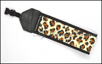 Leopard Spots (brown, black on dark tan) with Black Lining