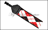 Black and Red Argyle (black)