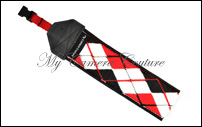 Black and Red Argyle (red)